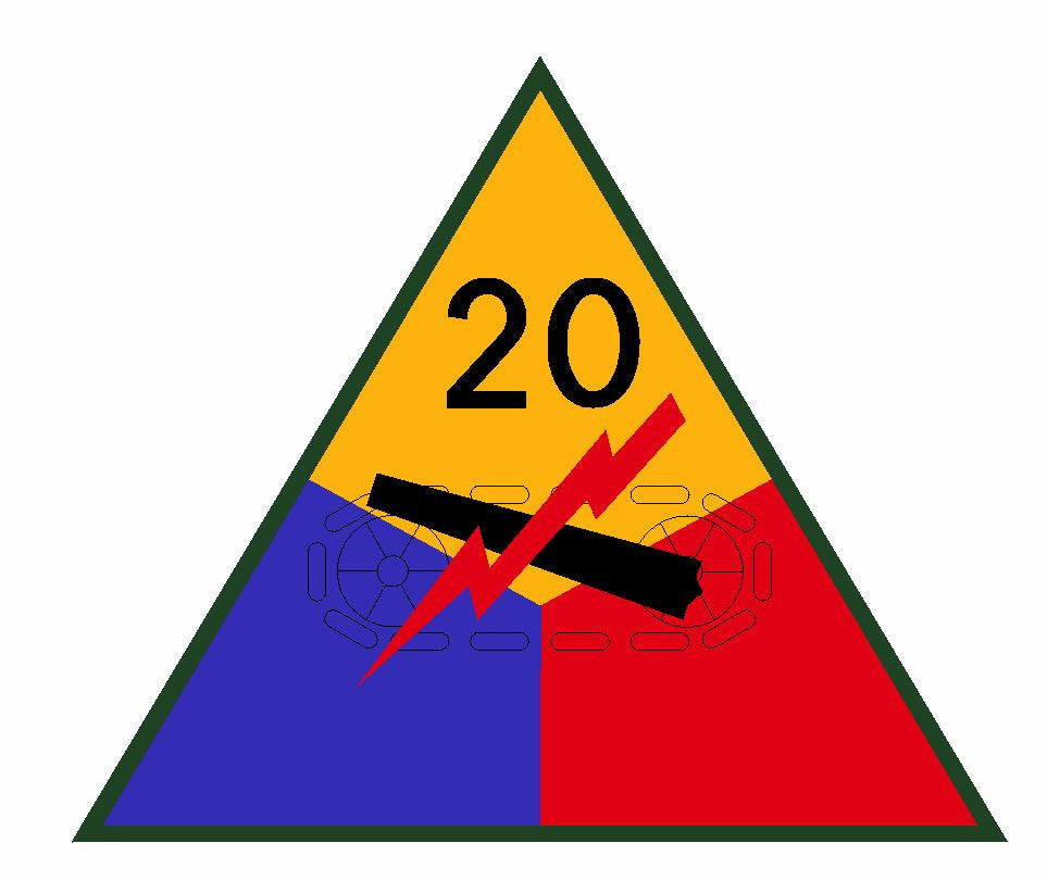 20th Armored Division Sticker Military Decal M367 - Winter Park Products
