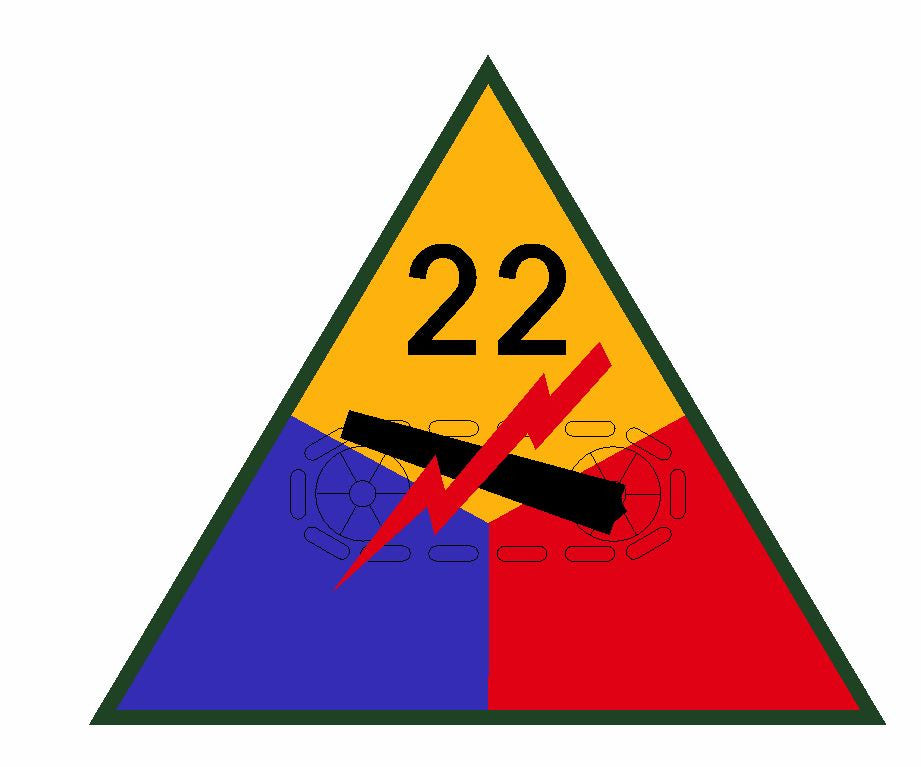 22nd Armored Division Sticker Military Decal M368 - Winter Park Products