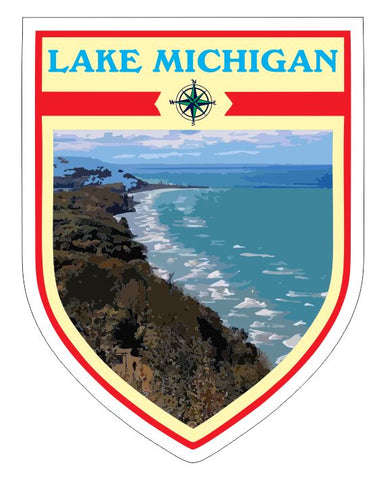 Lake Michigan Sticker Decal R7042