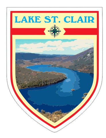 Lake St Clair Sticker Decal R7054