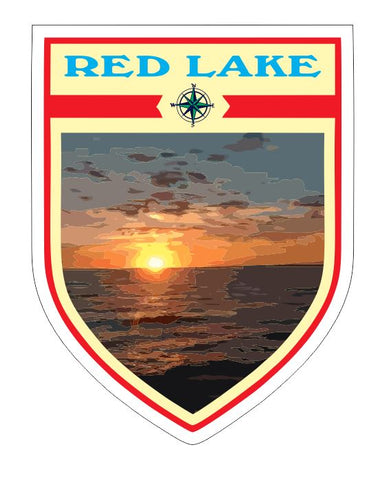 Red Lake Sticker Decal R7055