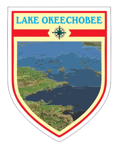 Lake Okeechobee Sticker Decal R7049
