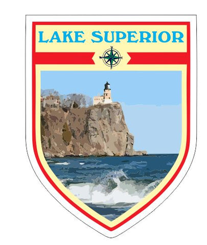 Lake Superior Sticker Decal R7040