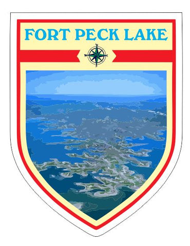 Fort Peck Lake Sticker Decal R7057