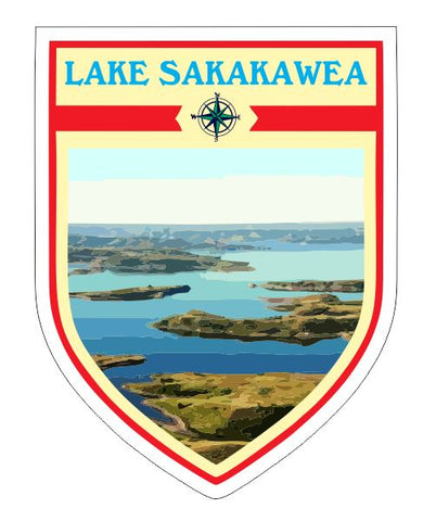Lake Sakakawea Sticker Decal R7051