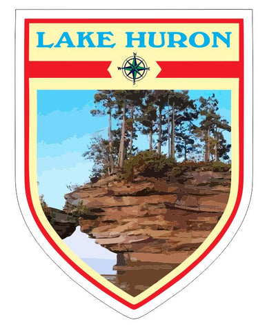 Lake Huron Sticker Decal R7041