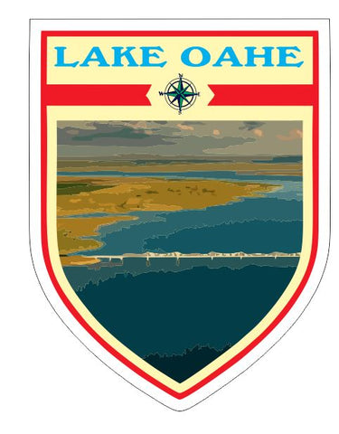 Lake Oahe Sticker Decal R7047
