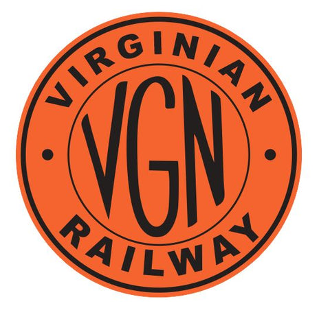 Virginian Railway Sticker R7105 Railroad Railway Train Sign YOU CHOOSE SIZE
