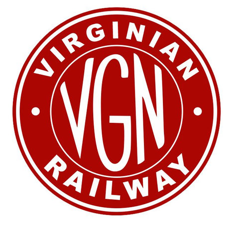 Virginian Railway Sticker R7104 Railroad Railway Train Sign YOU CHOOSE SIZE