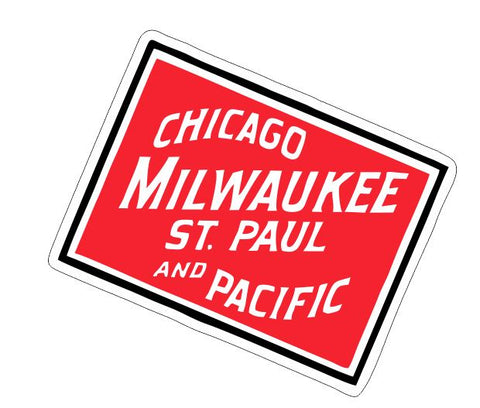 Chicago Milwaukee Railroad Sticker R7103 Railroad Railway Train Sign