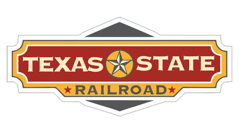 Texas State Railroad Sticker R7102 Railroad Railway Train Sign YOU CHOOSE SIZE