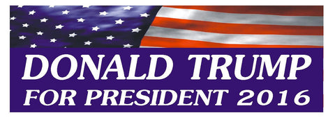 "DONALD TRUMP 2016 TRUMP FOR PRESIDENT BUMPER STICKER 3"" x 9"" D822 - Winter Park Products"