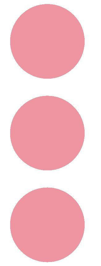 "2-1/2"" Pink Round Color Code Inventory Label Dots Stickers - Winter Park Products"