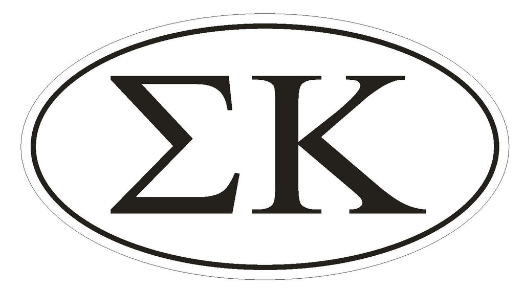 Sigma Kappa Sorority EURO OVAL Bumper Sticker or Helmet Sticker D582 - Winter Park Products