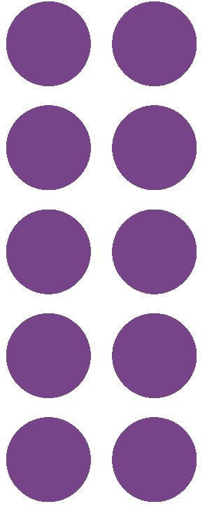 "1-1/2"" Lavender Round Color Coded Inventory Label Dots Stickers - Winter Park Products"