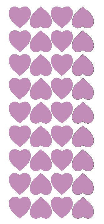 "Lilac 1"" Heart Stickers BRIDAL SHOWER Wedding Envelope Seals School arts & Crafts - Winter Park Products"