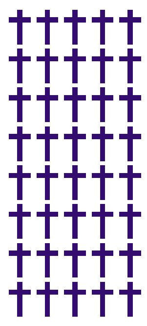 "1"" Purple Cross Stickers Envelope Seals Religious Church School arts Crafts - Winter Park Products"