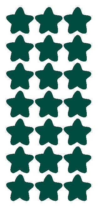 "1-1/4"" Dk Green Star Stickers Wedding Envelope Seals School Arts & Crafts - Winter Park Products"