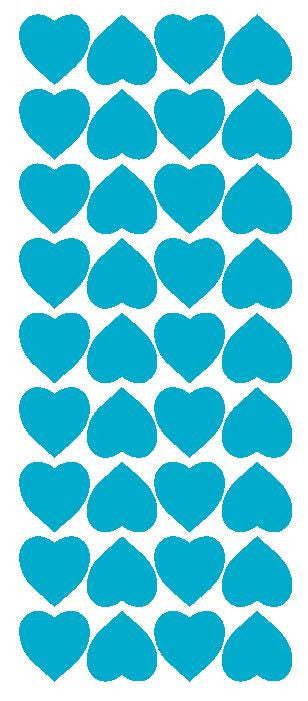 "Light Blue 1"" Heart Stickers BRIDAL SHOWER Wedding Envelope Seals School arts & Crafts - Winter Park Products"