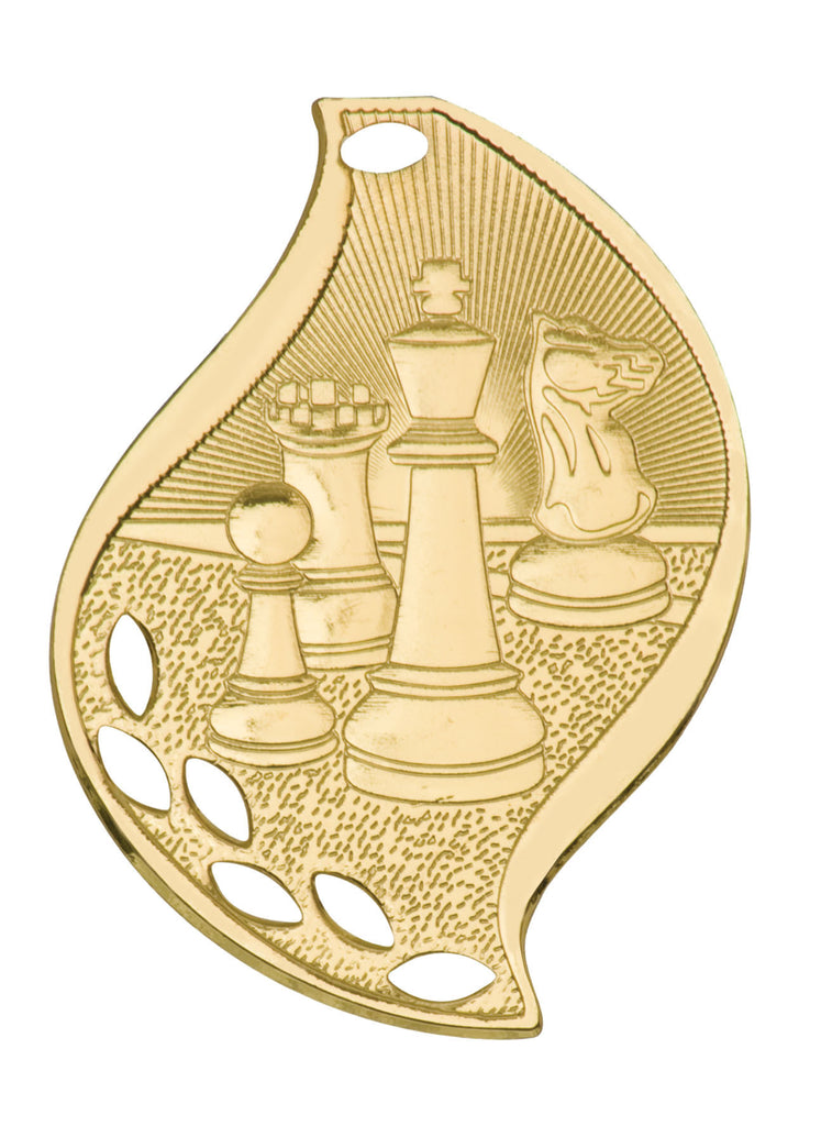 Chess Medal Award Trophy With Free Lanyard FM203 - Winter Park Products