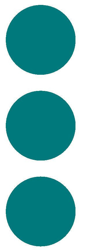 "2-1/2"" Turquoise Round Color Code Inventory Label Dots Stickers - Winter Park Products"