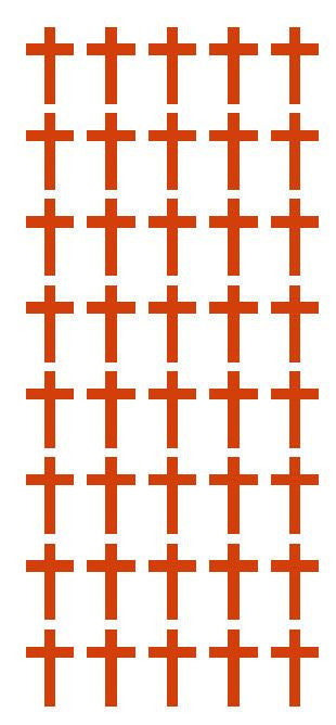 "1"" Red Cross Stickers Envelope Seals Religious Church School arts Crafts - Winter Park Products"