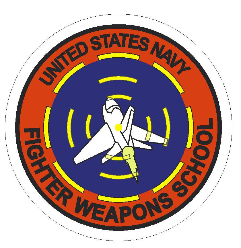 United States Navy Fighter Weapons School Sticker R294 - Winter Park Products