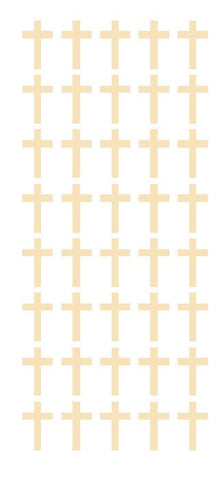 "1"" Ivory Cross Stickers Envelope Seals Religious Church School arts Crafts - Winter Park Products"