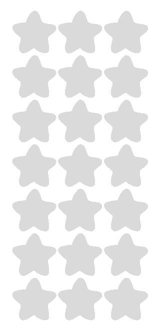 "1-1/4"" Lt Grey Gray Star Stickers Wedding Envelope Seals School Arts & Crafts - Winter Park Products"