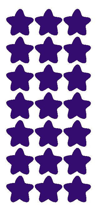 "1-1/4"" Purple Star Stickers Wedding Envelope Seals School Arts & Crafts - Winter Park Products"