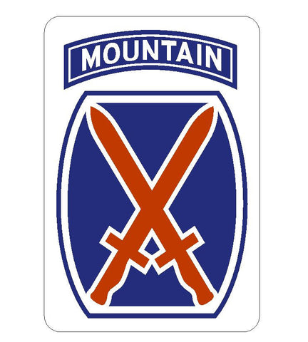 10th Mountain Sticker R438 - Winter Park Products