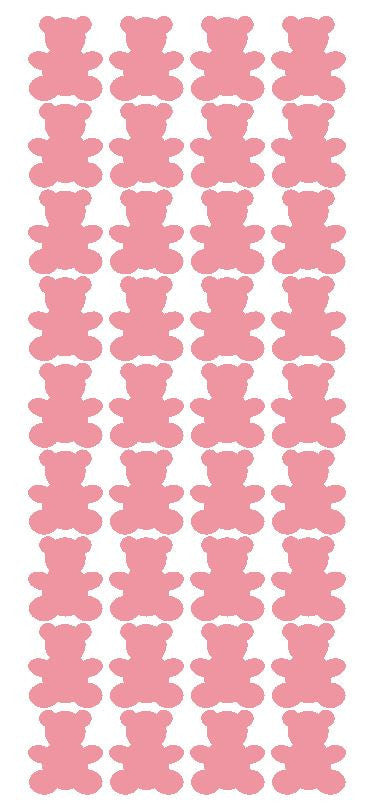 "1"" Pink Teddy Bear Stickers Baby Shower Envelope Seals School arts Crafts - Winter Park Products"