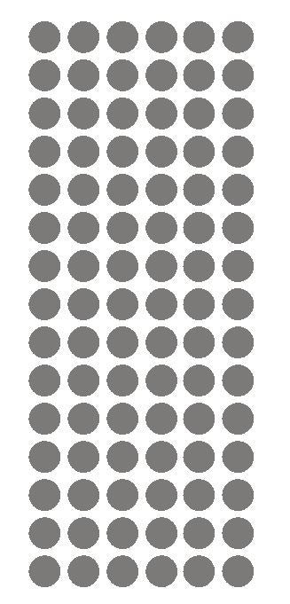 "1/2"" DK GRAY GREY Round Vinyl Color Coded Inventory Label Dots Stickers - Winter Park Products"
