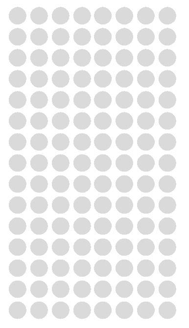 "1/4"" Lt GREY GRAY Round Color Coding Inventory Label Dots Stickers - Winter Park Products"