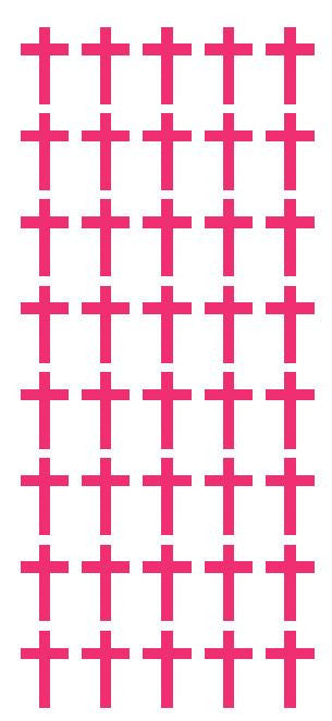 "1"" Hot Pink Cross Stickers Envelope Seals Religious Church School arts Crafts - Winter Park Products"
