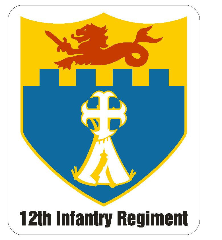 12th Infantry Regiment Sticker R422 - Winter Park Products