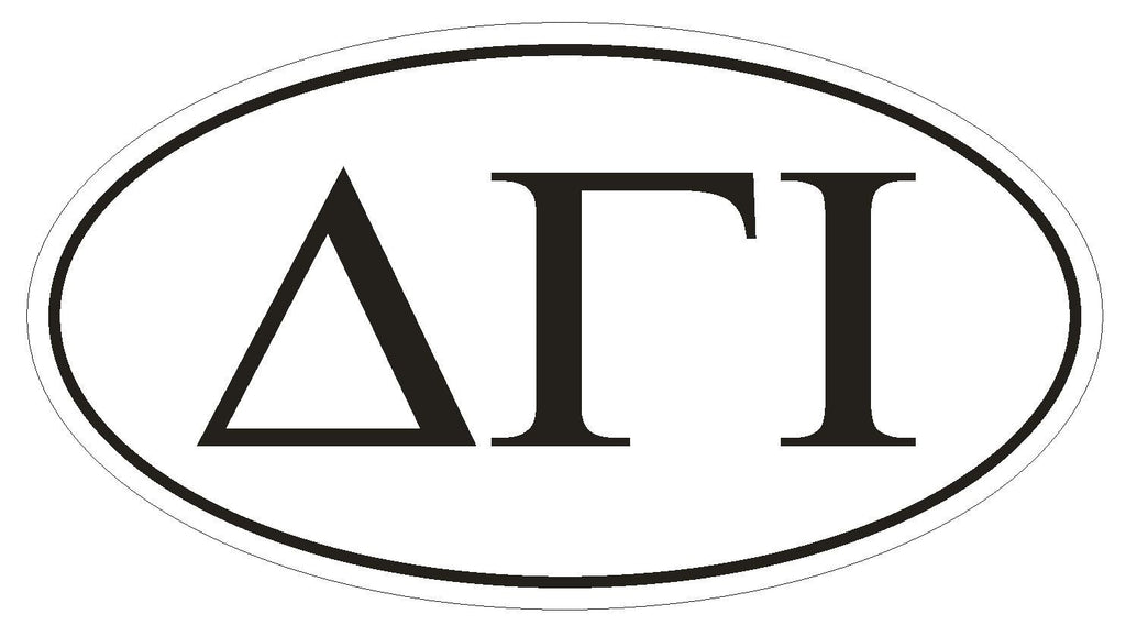 Delta Gamma Iota Fraternity EURO OVAL Bumper Sticker or Helmet Sticker D601 - Winter Park Products