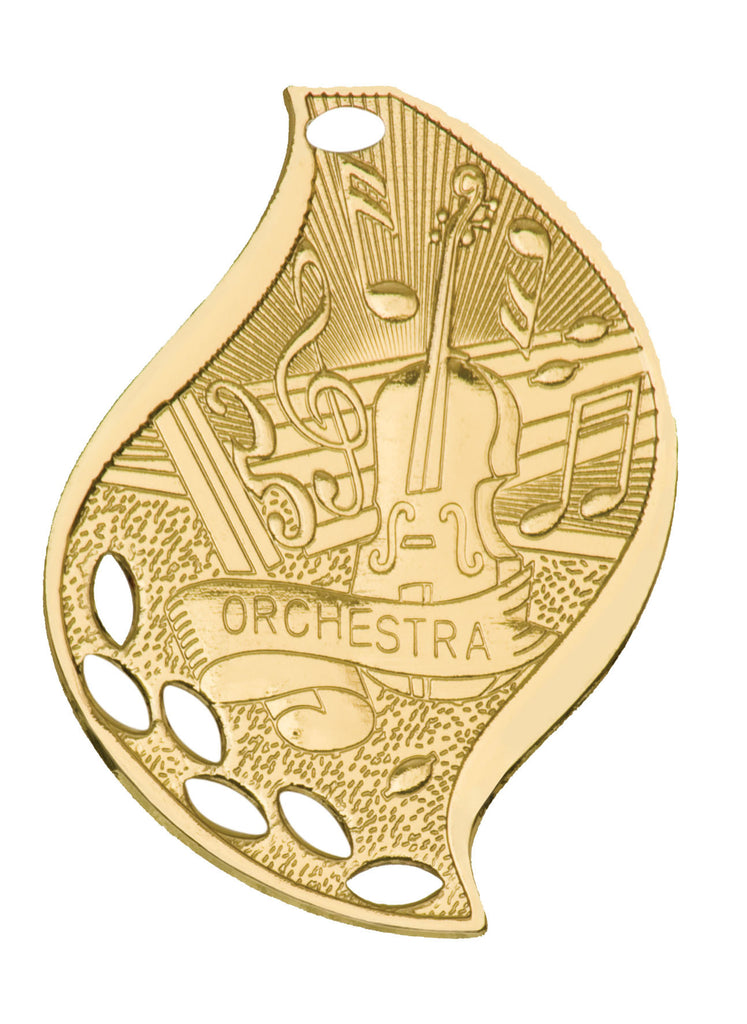 Orchestra Medal Award Trophy With Free Lanyard FM211 - Winter Park Products