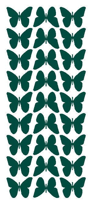 "Dark Green 1"" Butterfly Stickers BRIDAL SHOWER Wedding Envelope Seals School arts & Crafts - Winter Park Products"