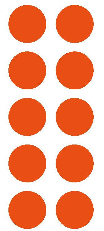 "2"" Orange Round Color Coded Inventory Label Dots Stickers - Winter Park Products"