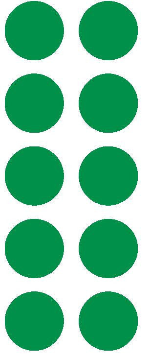 "1-1/2"" Green Round Color Coded Inventory Label Dots Stickers - Winter Park Products"