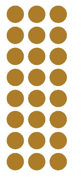 "1"" Gold Round Vinyl Color Code Inventory Label Dot Stickers - Winter Park Products"
