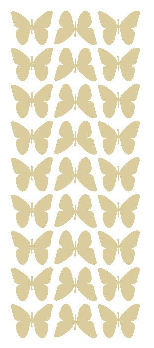 "Beige Tan 1"" Butterfly Stickers BRIDAL SHOWER Wedding Envelope Seals School arts & Crafts - Winter Park Products"