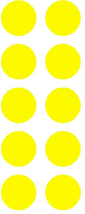 "1-1/2"" Light Yellow Round Color Coded Inventory Label Dots Stickers - Winter Park Products"
