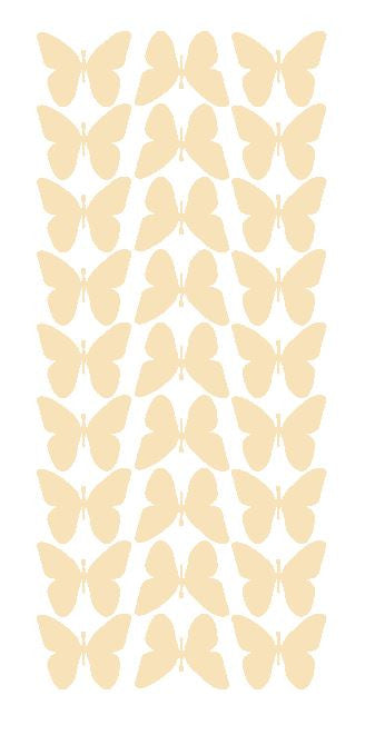 "Ivory 1"" Butterfly Stickers BRIDAL SHOWER Wedding Envelope Seals School arts & Crafts"