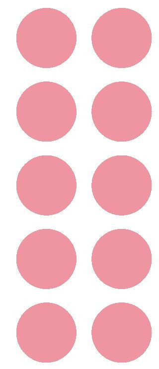 "2"" Pink Round Color Coded Inventory Label Dots Stickers - Winter Park Products"