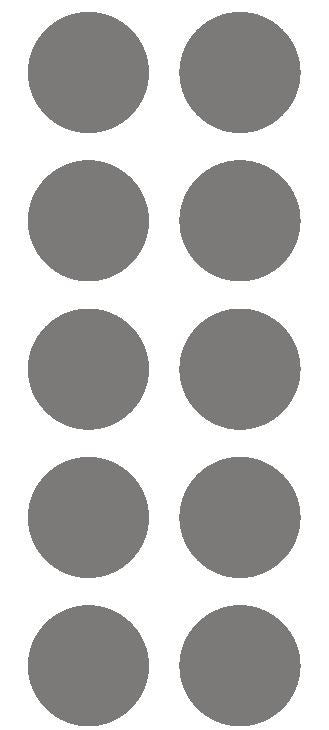 "2"" Dk Gray Grey Round Color Coded Inventory Label Dots Stickers - Winter Park Products"