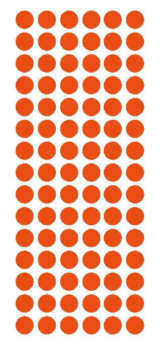 "1/2"" ORANGE Round Vinyl Color Coded Inventory Label Dots Stickers - Winter Park Products"