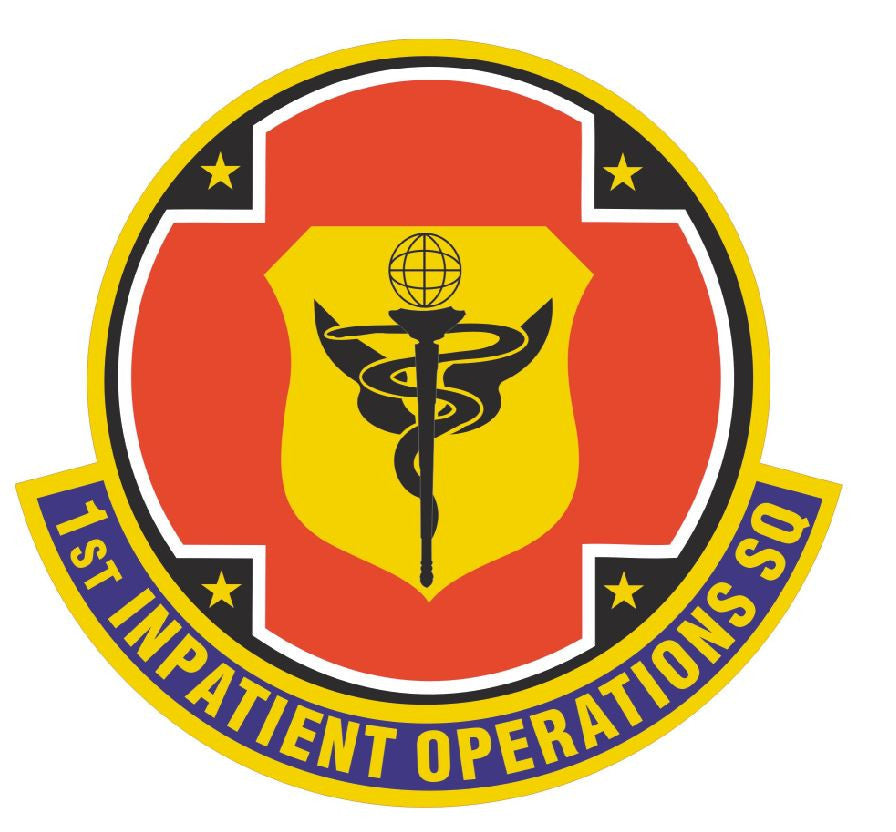 1st Inpatient Operations Squadron Sticker R470 - Winter Park Products