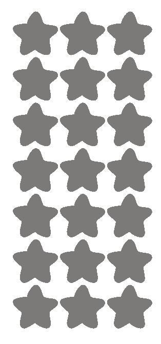 "1-1/4"" Dk Grey Gray Star Stickers Wedding Envelope Seals School Arts & Crafts - Winter Park Products"